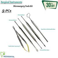 Set di 5 Chirurgico Periostio Impianto Elevatori Microsurgery Kit Strumenti