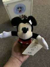 Steiff Disney Mickey Mouse 1998 Mohair Figure Ornament Box & COA #651410 Germany
