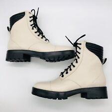 Michael Kors Bastian Cream Black Boots Women's 7.5 M