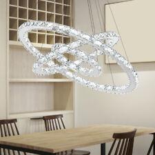 Moderno Lampadario LED da Soffitto Lampada Sospesa Sospensione Cristall 48W-96W
