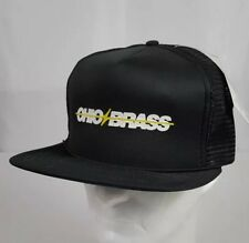 Vtg K-Studio Pocket Cap Ohio Brass Mesh Trucker Hat Black NOS with Tag