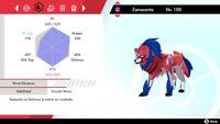 Elije tu Pokémon Shiny 6IV totalmente personalizado Espada o escudo Envió rápido