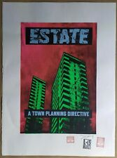 James Cauty - Estate TDP 446 Large Silkscreen Test Print Signed and Stamped L-13