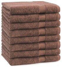 Juego de toallas Premium 8 toallas de mano tamaño 50x100cm de color marrón nuez