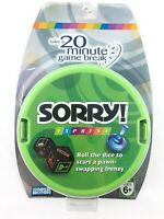 Sorry Game Express Portable Dice Family Ages 6+ Hasbro Parker Brothers NRFB 2007