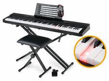 B-WARE Digital 88 Leucht-Tasten Keyboard E-Piano Piano Set X-Ständer Kopfhörer