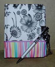 Locking Secret Notebook/Journal Heart Shaped Keys& padlock WITH FREE CRYSTAL PEN