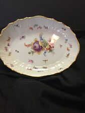 Meissen Floral & Insect small oval bowl circa 1815-1840