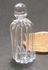 1:12 Scale Clear Patterned Glass Decanter Tumdee Dolls House Drink Accessory GDY