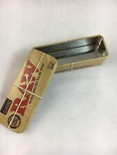 RAW 1 1/4 Roll Caddy Authentic Metal Rolling Cigarette Tin Case Paper