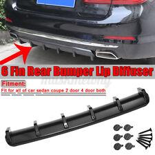 "36.6"" Carbon Fiber Universal Rear Bumper Lip Diffuser Shark Fin 6 Spoiler Wing"