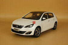 1:18 2015 PEUGEOT 308s white color hatchback 5 doors model car + gift