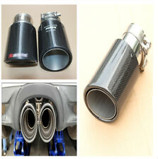 Durable Carbon Fiber Auto Car Exhaust Tip Glossy 63MM IN-89MM OUT Muffler Tip