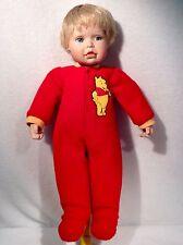 "Disney 16"" H Porcelain Doll in Winnie the Pooh Pajama's Cindy M McClure 6188FE"