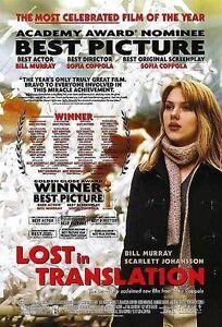 Lost in Translation Movie Poster 27 x 40 D/S  Bill Murray Scarlett Johansson