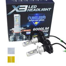 2pc X3 H7 ZES COB 50W Hi/Lo 6000LM Car LED Headlight Bulbs Conversion Kit 6500K