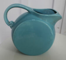 Vernon Kiln Turquoise Blue Disc Pitcher Modernist