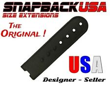 Snapback Cap, Hat Size Extension, Snap and Go, Plastic snap buckle extension BLK