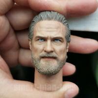 High Quality 1/6 scale Jeff Bridges Head Sculpt Kevin Flynn fit 12'' Figure Body