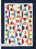 """Sonora - pieced quilt PATTERN for 2.5"""" strips - Cozy Quilts - 4 sizes"""