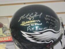 Brent Celek Philadelphia Eagles Signed FS Replica STAT Helmet COA