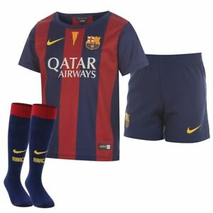Nike Barcelona Official Little kids Home Full Kit 2014-15 Soccer 610802 422  L