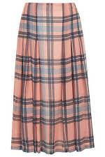 Topshop check chiffon midi skirt *BNWT*size 10 *orange*navy*summer*
