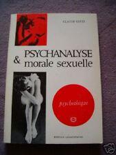 PSYCHANALYSE ET MORALE SEXUELLE CLAUDE GEETS