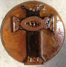 Cross 5, plaque, stepping stone,  plastic mold, concrete mold, cement, plaster