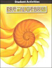 BJU PRess - Pre-Algebra Student Activities (2nd Ed) 247478