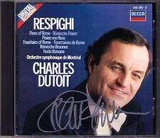 Charles DUTOIT Signiert RESPIGHI Pini Fontane di Roma Feste Romane DECCA 1983 CD