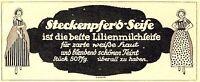 Steckenpferd Seife Reklame von 1915 Lilie Lilienmilch Radebeul Bergmann Werbung