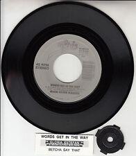 """GLORIA ESTEFAN & MIAMI SOUND MACHINE Words Get In The Way 7"""" 45 record NEW RARE!"""