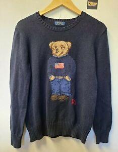 Ralph Lauren Polo Bear Sweater Youth Size XL