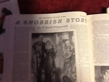 Saturday Evening Post  f scott fitzgerald  snobbish story  November 29  1930