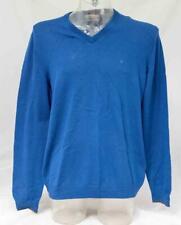 Mens azul Calvin Klein Cuello en V Jersey de Lana Merino Talla XL Lote FC1