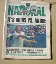 The National Daily Sports Newspaper - Boris Becker vs Agassi 9/7/90