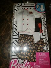 NEW  KEN DOLL CLOTHES,FASHION PACK ,BURGER CHEF OUTFIT