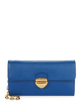 100% AUTH NEW PRADA SAFFIANO LUX BLUE SMALL CROSSBODY WALLET ON CHAIN BAG/PURSE