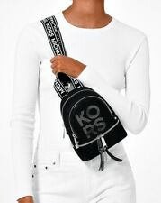 Michael Kors Backpack Bag Rhea Zip Xs Backpack Black New