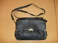 "Ladies Handbag NICA black leather organiser, 11.5x8x4""+ strap, shoulder bag 3431"