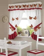 Butterfly Kitchen Curtains, 5 Sizes Free Tie-backs ,