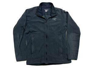 Mens Arc'Teryx Sample Full Zip Fleece Jacket Size M Medium Blue Polartec