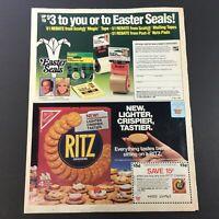 VTG Retro 1985 Easter Seals Tape & Nabisco Ritz Crackers Print Ad Coupon