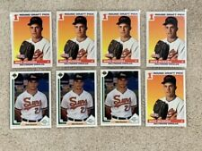 MIKE MUSSINA LOT OF (8) ROOKIE CARDS.  BALTIMORE ORIOLES.  NR MT/MINT