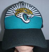 Jacksonville Jaguars NFL 100 New Era 39Thirty Black Fitted Draft Hat Size S-M