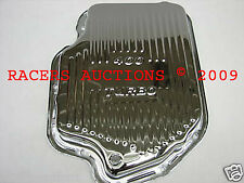 GM Turbo 400 Chrome Transmission Pan Stock Depth Capacity TH400 Automatic Trans