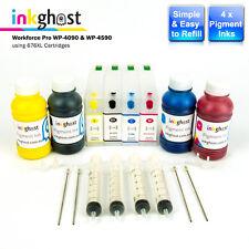 Refillable Cartridges suits EPSON Workforce Pro WP4090 WP4590 711XL Pigment Inks
