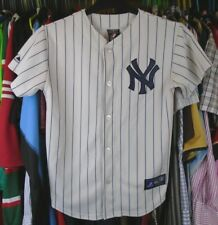 NEW YORK YANKEES MLB MAJESTIC BASEBALL SHIRT JERSEY BOYS 10-12 YEARS #19 TANAKA