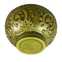 Vtg Ceramic Haeger Pottery USA Ceramic Bowl MCM Planter Green #102 Macomb, ILL